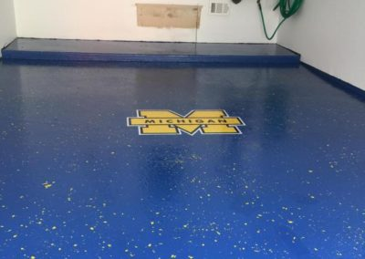 Custom epoxy garage floor