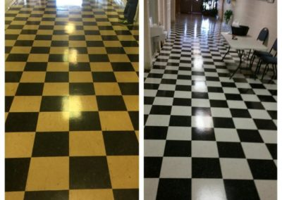 Strip and wax tile